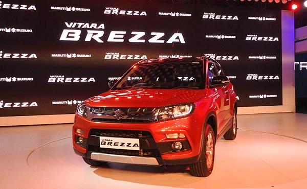 Maruti Suzuki Vitara Brezza Front Low Side View