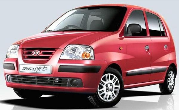 Hyundai Santro Xing Front Low View