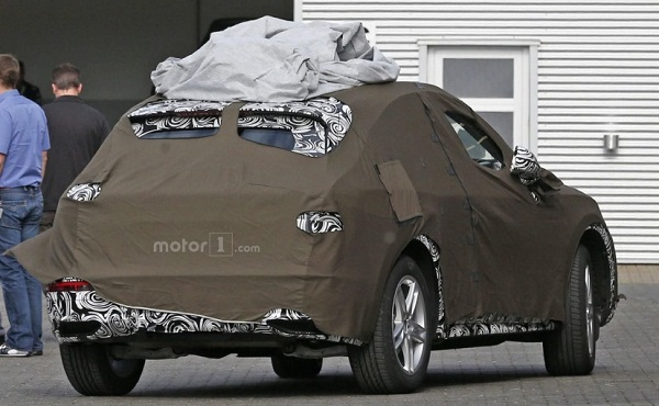 Generation Next Audi Q3 Rear View Camouflaged