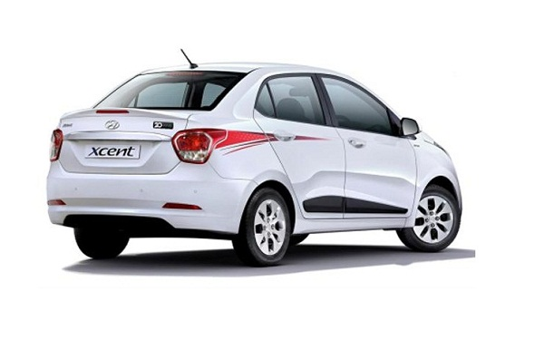Hyundai Xcent Special Edition Rear View
