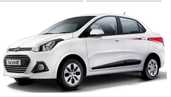 Hyundai Xcent Special Edition Front Low View