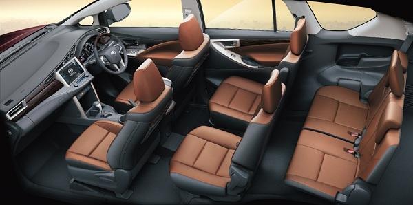 Toyota Innova Crysta Interiors