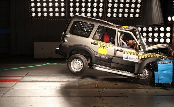 Global NCAP test of Mahindra Scorpio