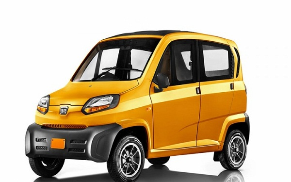 Bajaj Quadricycle Qute Front View