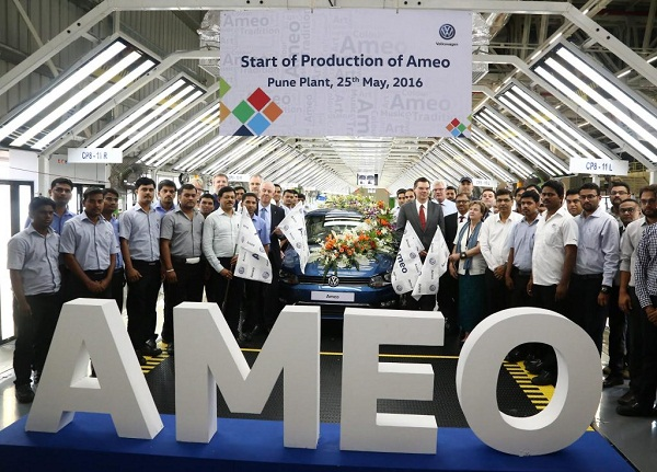 Volkswagen Ameo First Unit at Production Unit