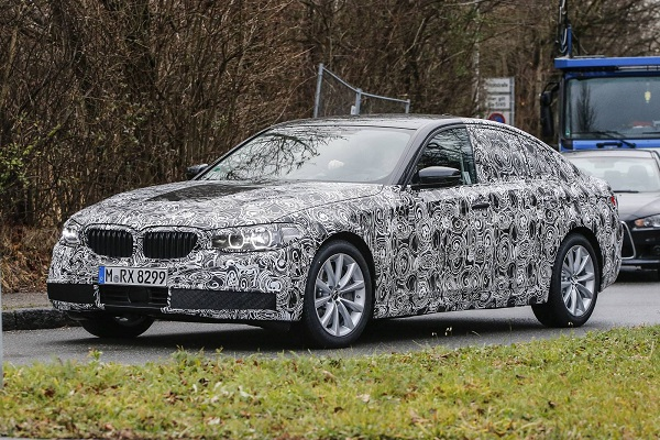 Front Side Low View of Next Generation BMW 5 Series