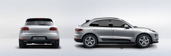 Porsche Macan Rear and Side View
