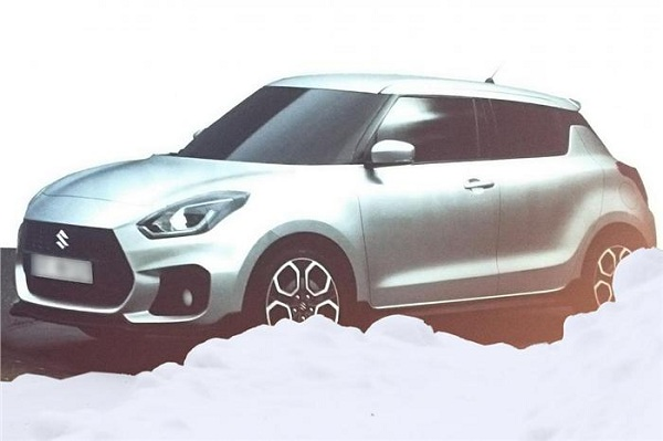 Front View of 2017 Maruti Suzuki Swift