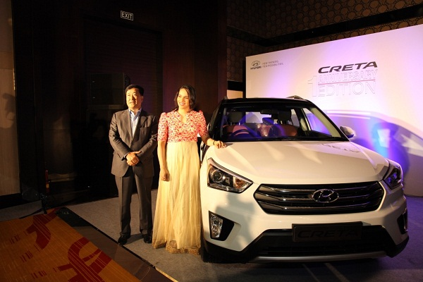 Sania Nehwal With Anniversary Edition of Hyundai Creta