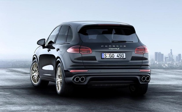 Porsche Cayenne Platinum Edition Rear View