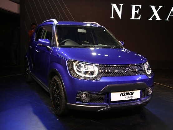 Maruti Suzuki Ignis Front Low Side View
