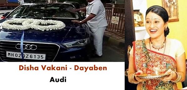 Disha Vakani's Audi Car