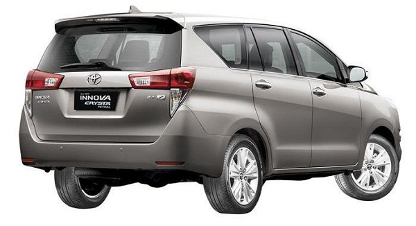 Toyota Innova Crysta Petrol Rear View