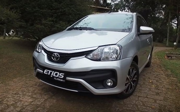 Toyota Etios Front Side View