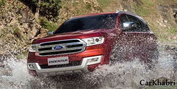 Ford Endeavour Front Low View