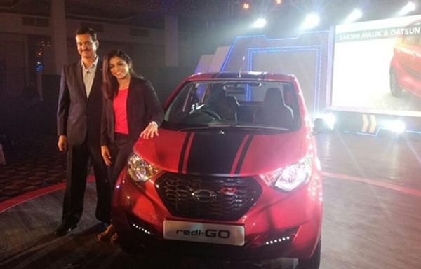 Sakshi Malik with Datsun redi-Go Sport Edition