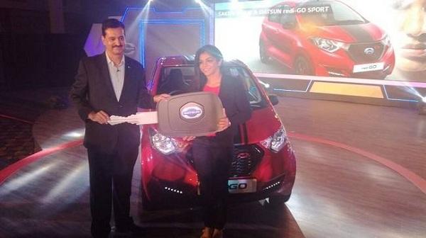 Datsun redi-Go Sport Key Handover to Sakshi Malik