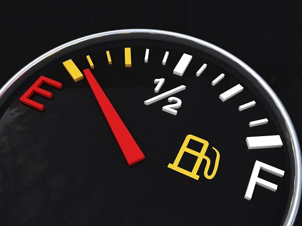 Low fuel tank