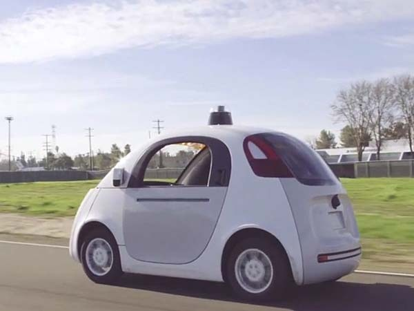 Google's Self Driving Car Rear Side View