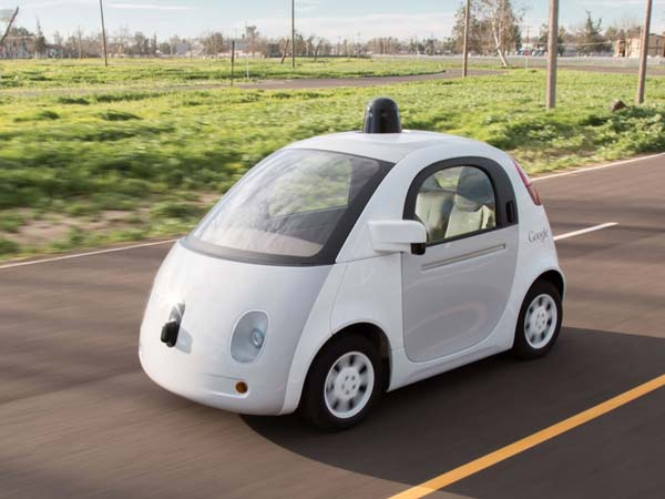 Google's Self Driving Car Front Low View