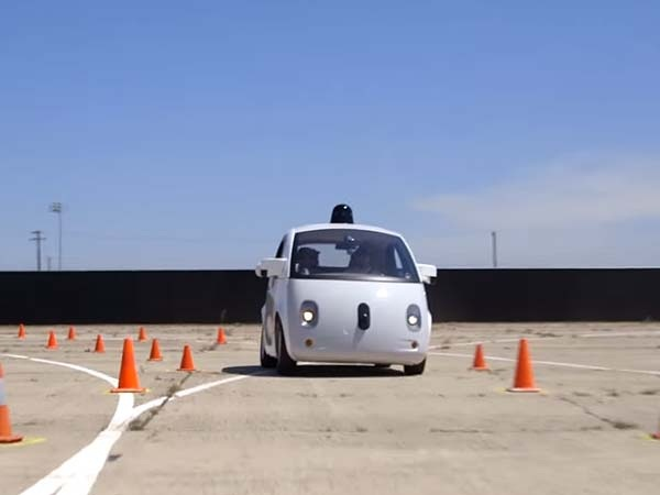 Google's Self Driving Car Front View