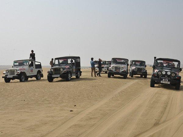 Mahindra Thar Being Tested in Desert