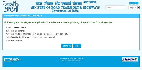 Driving License Apply Process