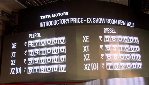 Tata Tigor Price