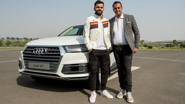 Virat Kohli with Audi Q7