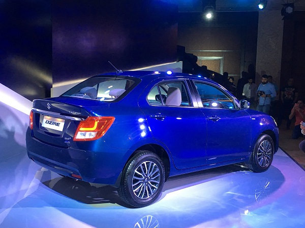 2017 Maruti Suzuki Swift Dzire Rear Side View