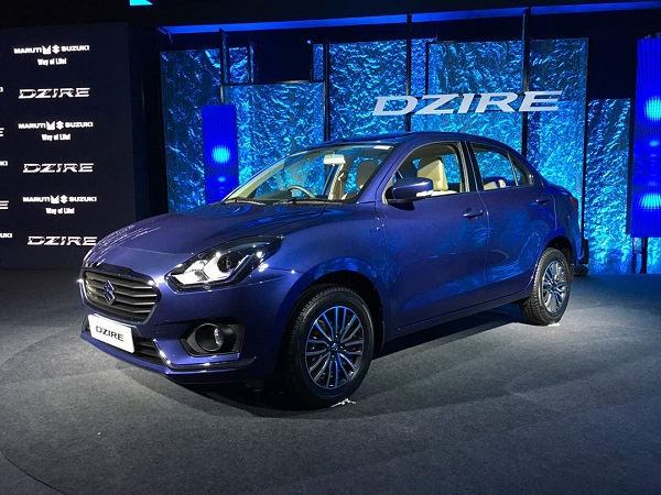 2017 Maruti Suzuki Swift Dzire Front Low Side View