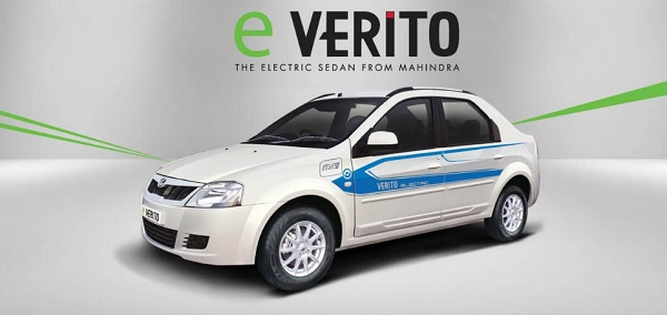 Mahindra e-Verito Front Low Side View
