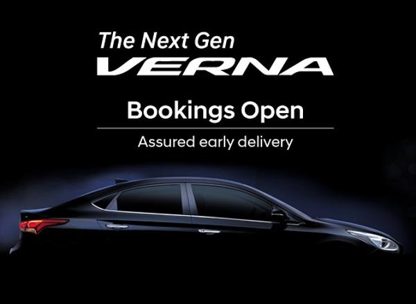 2017 Hyundai Verna Bookings Open