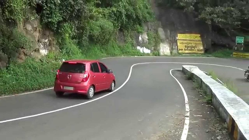 DRIVING IN THE HILLY AREA