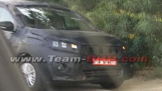 Camouflaged Generation Next Maruti Suzuki Ertiga Spied