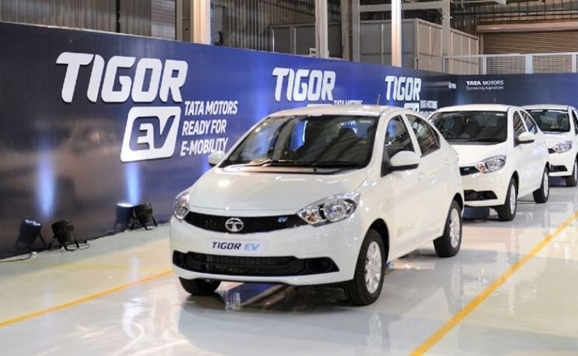 Electric Tata Tigor Coming Out From The Plant