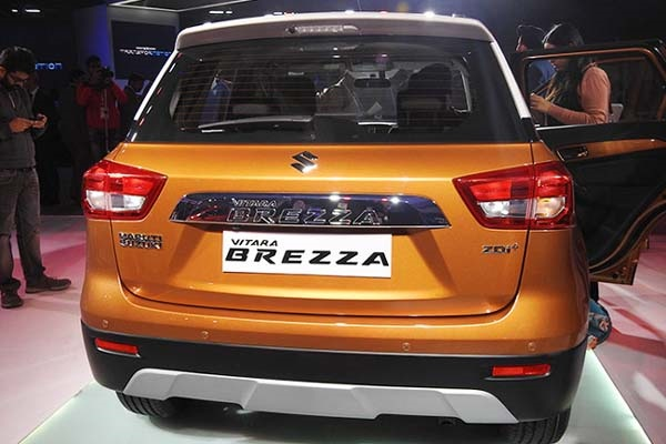 Maruti Suzuki Vitara Brezza With Orange Color Option