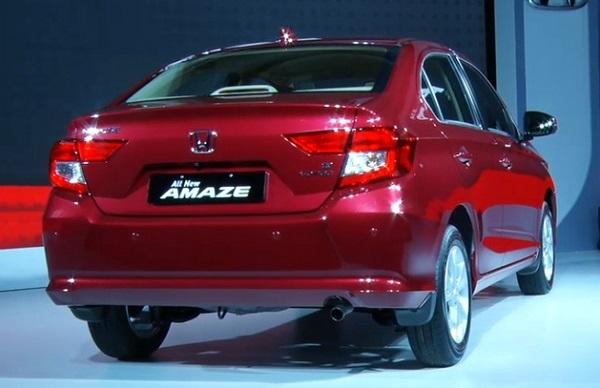 New Honda Amaze 2018 Rear View