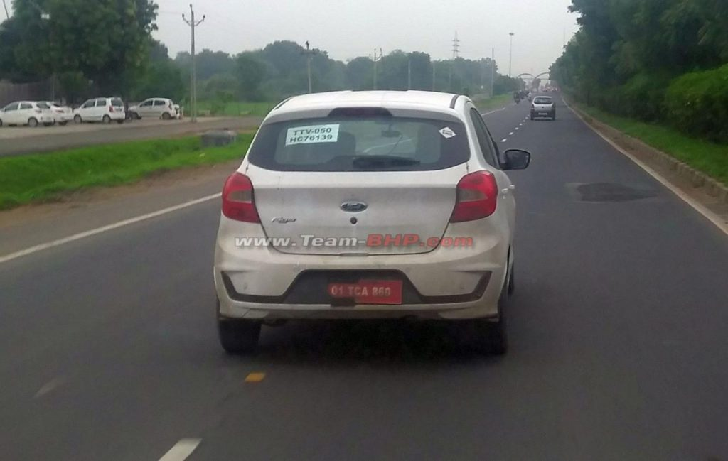Ford Figo Facelift CNG Spied Variant Rear View