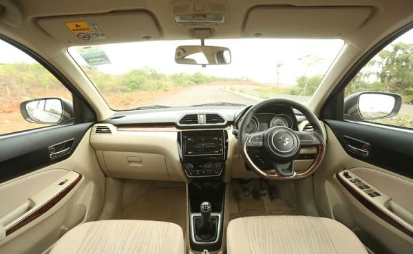 Maruti Suzuki Dzire Special Edition Interior
