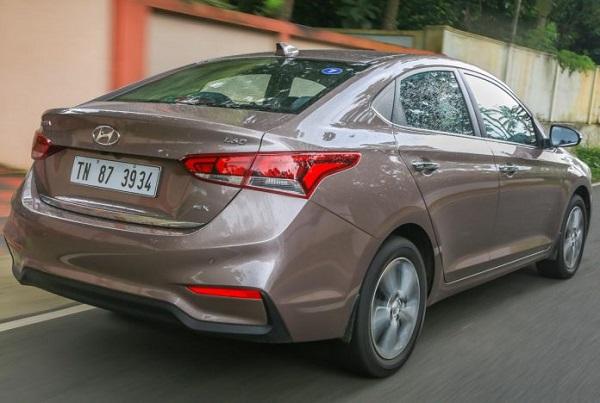 Hyundai Verna 2018 Rear Low View