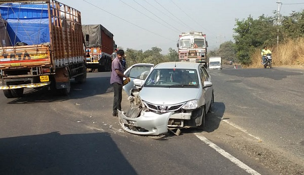 An accident at the highway