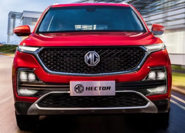 MG Hector Front View