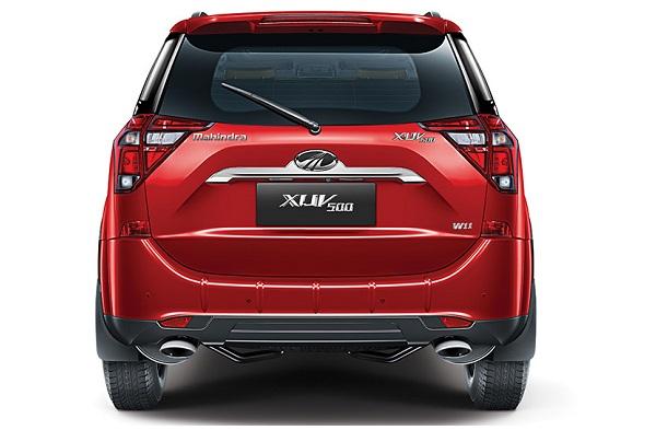 Rear View Of Mahindra XUV500 2020