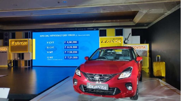 Toyota Glanza Variant Wise Price