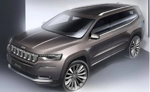 """Front """"View of Jeep Grand Compass"""