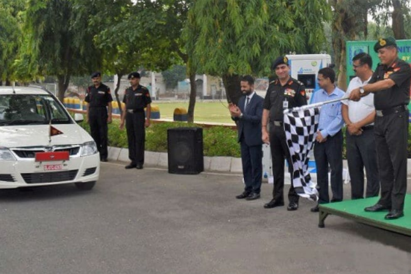 Indian Army Welcoming The Entrance of Mahindra e-Verito In Its Fleet