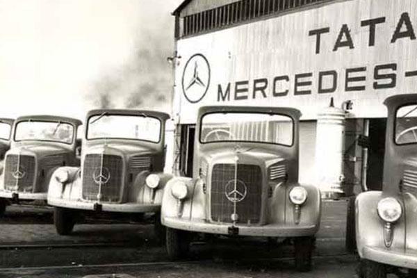 Tata Trucks With Mercedes Logo