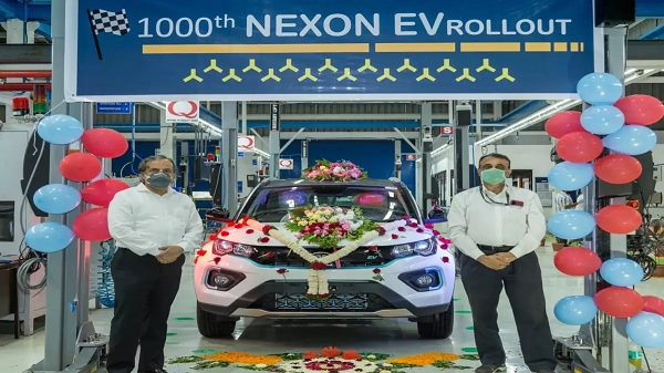 Tata Nexon EV 1000th Unit Coming Out From Manufacturing Plant