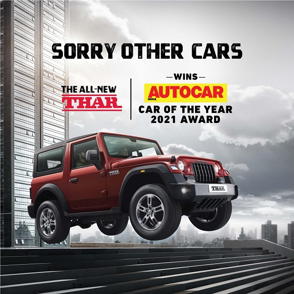 Mahindra Thar - The Car of the Year 2021